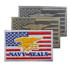 US Navy SEALS Team Special Warfare Tactical Patch Military Embroidered USA Flag