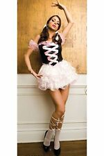 Music Legs Lace Up Ballerina Princess Outfit, As Shown - ML-70114