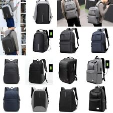 Men Women Anti-Theft  Backpack USB Charging Travel School Bag Laptop Rucksack