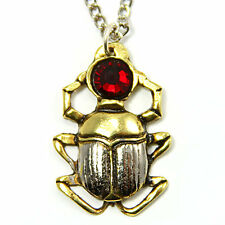 Scarab Beetle Pendant Necklace - Powerful Charm for Courage and Protection