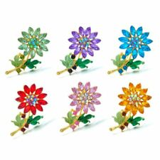 Diy Wedding Bride Bouquet Crystal Flower Brooch Pin Women Shirt Collar Jewelry