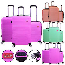 3 Piece Spinner Luggage Travel Set Rolling Wheels Trolley Suitcases 3 colors
