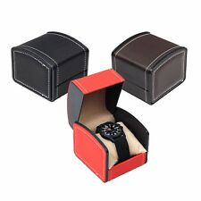 Slot Watch Box Leather Display Case Organizer Luxury Genuine Watch Case Storage