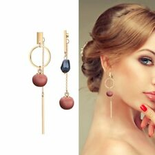 Fashion Women Long Chain Round Ball Drop Dangle Ear Stud Earrings Jewelry Gift