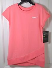 NWT GIRLS KIDS NIKE DRI FIT BRIGHT MELON SHORT SLEEVE ACTIVE T SHIRT SZ 6