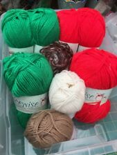 King Cole Bundle Green Red Patons Double Knit Chunky Xmas Toys