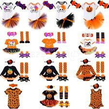Newborn Baby Girl 1ST Halloween Party Dress Outfit Pumpkin Bodysuit Warm Clothes