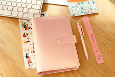 Cute Leather Spiral Notebook School Office Planner Journal Personal Diary Book