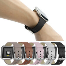 Hot!Large/S Luxury Genuine Leather Wrist Band Strap+Metal Frame For Fitbit Blaze