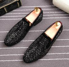 New Fashion Mens Rhinestones Slip on Loafer Formal Casual Oxfords Party Shoes
