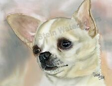 Chihuahua Chi Dog Art Print of Watercolor Painting Judith Stein PLAYTIME POOCH