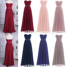 Evening Women's Elegant Formal Party Bridesmaid Cocktail Chiffon Long Maxi Dress