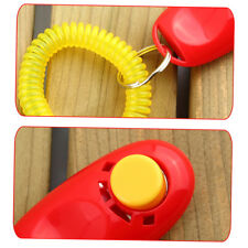 Dog Pet Click Clicker Training Obedience Agility Trainer Aid Wrist Strap RF