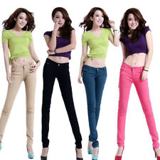 Coloured Trousers 1Pcs New Ladies Skinny Jeans Stretchy  Fit