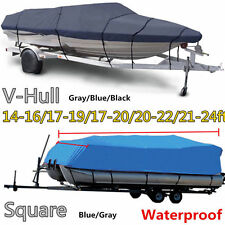 "17 18 19' Trailerable Fish Ski Boat Cover 600D V-Hull Beam 95"" +Oxford Bag EJG1"