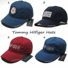 TOMMY HILFIGER NEW MENS BASEBALL CAP,NWT,HAT,NAVY BLUE, RED, BLUE,. NICE.