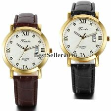 Military Army Mens Date Calendar Leather Band Sport Quartz Analog Wrist Watch