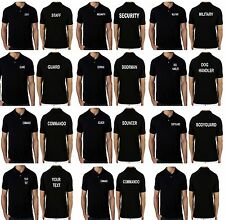 New Men's Personalised printed Polo Shirts custom printed embroidery work wear