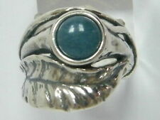 New SHABLOOL Ring Blue Kyanite Nature Jewelry 925 Sterling Silver Women