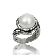 New SHABLOOL Ring Jewelry 925 Sterling Silver Freshwater White Pearl