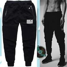 Mens Casual Training Sweat Sport Pants Jogging Jogger Trousers Tracksuit Bottoms