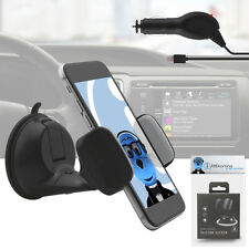 Suction Car Holder And Car Charger For Samsung Galaxy Core II SM-G355H