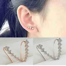 Sweet Women's Silver Gold Plated Element Crystal Earrings Ear Hook Jewelery Xmas