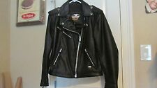 HARLEY DAVIDSON LADIES LEATHER MOTORCYCLE JACKET SIZE W SMALL