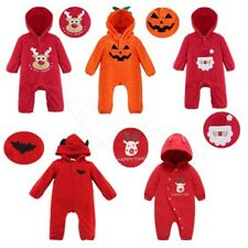 Toddler Baby Boys Girls Warm Infant Hoodie Jumpsuit Romper Kids Bodysuit Outfits