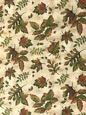 Holiday Fall Colors Oak Leaves Acorns Coordinating Cotton Quilt Fabric  2 yards