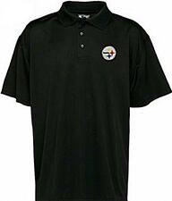 Pittsburgh Steelers NFL Mens Team Apparel Polo Golf Shirt Black Adult Sizes