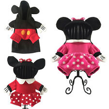 Pet Dog Cat Halloween Costume Mickey Minnie Mouse Cosplay Fancy Dress Clothes