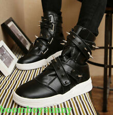 COOL Mens Rivet Boot High Top Punk Fashion Sneaker College Trainer Shoes