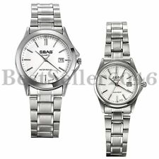 Fashion Women Men Date Stainless Steel Couple Military Quartz Analog Wrist Watch