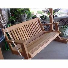Wood Country Cabbage Hill 5 ft. Red Cedar Porch Swing