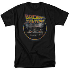 BACK TO THE FUTURE Movie Logo Delorean Officially Licensed Adult T-Shirt SM-5XL