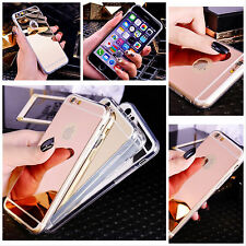 Luxury New Fashion Mirror Soft TPU Back Cover Case For Apple iPhone Models