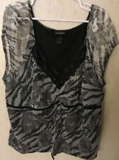 Lane Bryant Plus Size Women's Black Lace Top Shirt Sizes 26/28 and 22/24 Lined