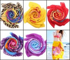 Women Chiffon Wrap Pareo Dress Shawl Sarong Beach Swimwear Bikini Cover Up Scarf