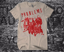P.R.O.B.L.E.M.S beige T shirt screenprinted rock crust punk hardcore poison idea