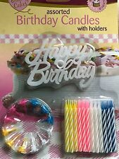 Happy Birthday Candles Or 12  Candles With Holders