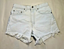 LEVI'S 550 JEAN SHORTS CUT OFF W 31 FADED BLUE HIGH WAISTED VINTAGE USA