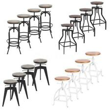 4pcs Industrial Bar Stool Adjustable Dining/Breakfast/Kitchen Guests Chair L2K0