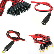 Lot 5.5x2.1mm Female Male DC Power Jack Plug Adapter Connector Cable CCTV Camera