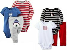 Carter's Baby Boy's 3 Pc Awesome Hugs Bodysuits & Pants Set NWT  3M  6M or 12M *