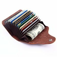 Aluminum Leather ID Credit Card RFID Protector Holder Case Purse Wallet EB