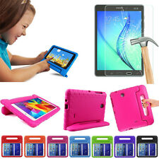 Kids Shock Proof EVA Stand Case For iPad / Samsung Tablet  + Tempered Glass Film