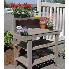 Wood Country Cedar Wood Deluxe Potting Bench