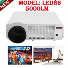 5000 Lumens 1080P HD Multimedia Portable Projector 3D LED86 Home Theater Cinema