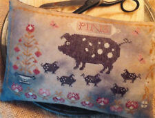 Spotted Pigs Pinkeep Pillow Stacy Nash Primitives Cross Stitch Pattern